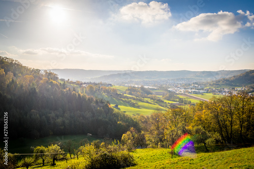 Fototapeta  Aussicht von Burg Waldenstein Richtung Rudersberg
