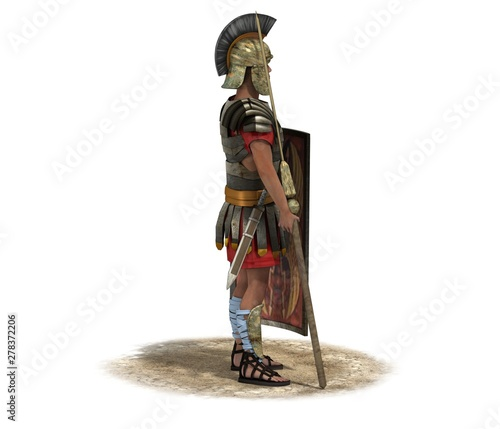 Canvas Print 3D rendering, warrior character, illustration
