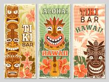 Hawaii Retro Banners. Aloha To...