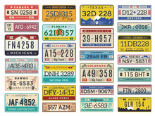 Car Plates. Highway Automobile...