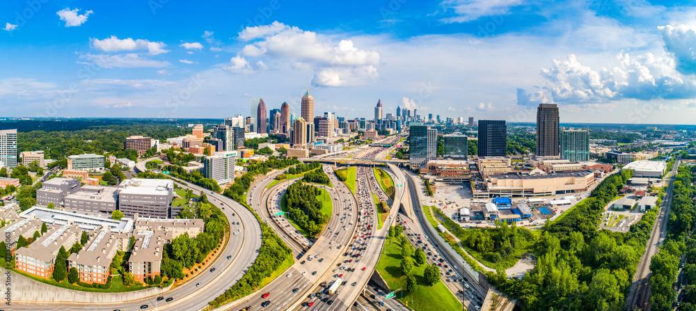 Fototapety, obrazy: Atlanta, Georgia, USA Downtown Skyline Aerial Panorama
