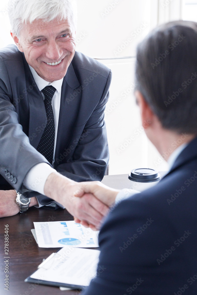 Fototapety, obrazy: Business people shaking hands
