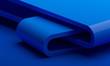 Leinwanddruck Bild - Abstract 3d render, modern background, graphic design