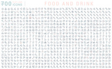 Set Vector Line Icons Of Food ...