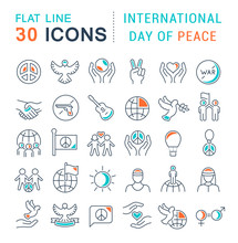 Set Vector Line Icons Of Inter...