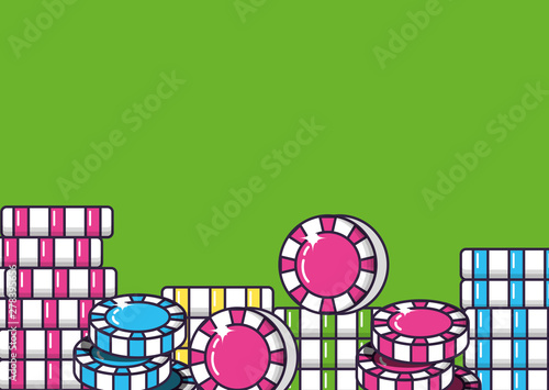 casino games chips isolated icons Obraz na płótnie