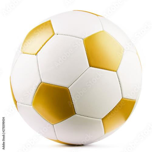 Leather soccer ball isolated on white background Fototapeta