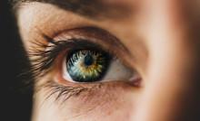 Macro Plan Of The Female Eye, Painted Eyelashes
