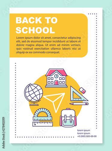 School knowledge brochure template layout  Pupils life  Flyer