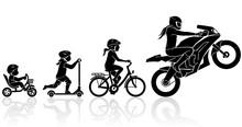 Female Sports Motorcycle Rider Evolution