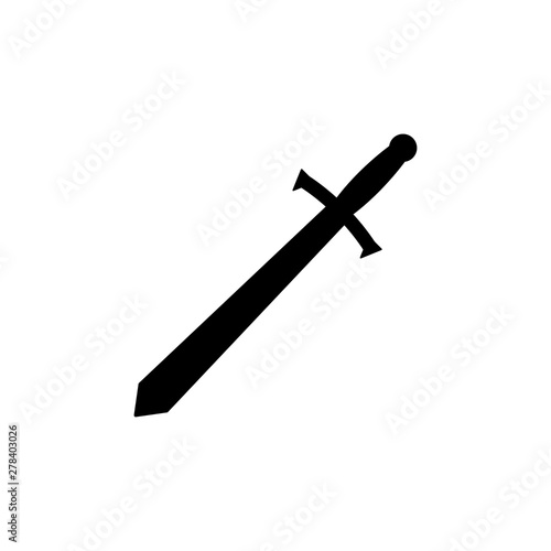 Sword Icon Vector Logo Illustration Template - Vector Wallpaper Mural