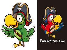 Pirates Parrots Bird Mascot