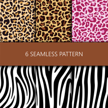 Set Of Seamless Pattern With L...