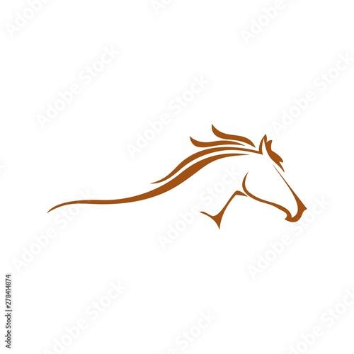 Horse logo Wall mural