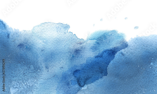 Abstract cloud watercolor and ink blot painted background. Texture paper.