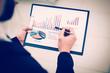 Leinwandbild Motiv sales Manager makes the analysis of marketing reports