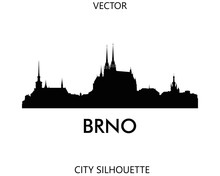 Brno Skyline Silhouette Vector Of Famous Places