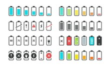 Battery Icons. Phone Charge Le...
