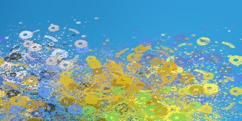 Fototapeta na wymiar Decorative oil painting. Vibrant dynamic art. 2d illustration. Texture backdrop.