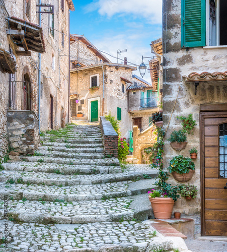 Fotomural  Scenic sight in Artena, old rural village in Rome Province, Latium, central Italy