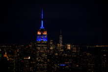 Nightscape Of The Empire State Building, Manhattan, New York