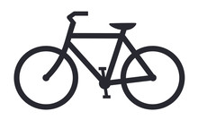 Bicycle Icon Bike Vector Symbol