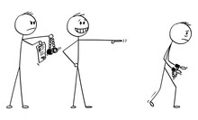 Vector Cartoon Stick Figure Dr...