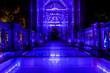 canvas print picture - Glas bridge Guilin