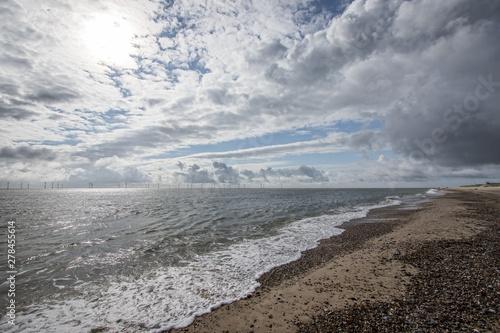 Fotografía The coast of East Anglia Norfolk UK. Coastal view.