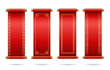 Chinese Red Scrolls Festive.  ...