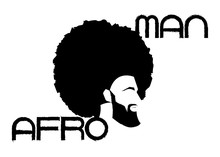 Black Man Portrait With Afro C...