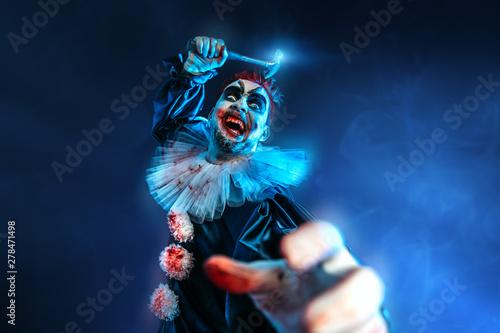 Photo  angry clown man