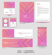 Modern stationery mock up and visual brand identity set