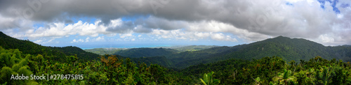 Papiers peints Vieux rose Panoramic of El Yunque National Forest, Puerto Rico