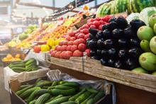Vegetable Farmer Market Counte...