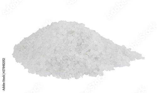 Poster Aromatische Organic sea salt isolated on white background