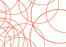 Abstract Red Curve Line With White Background.