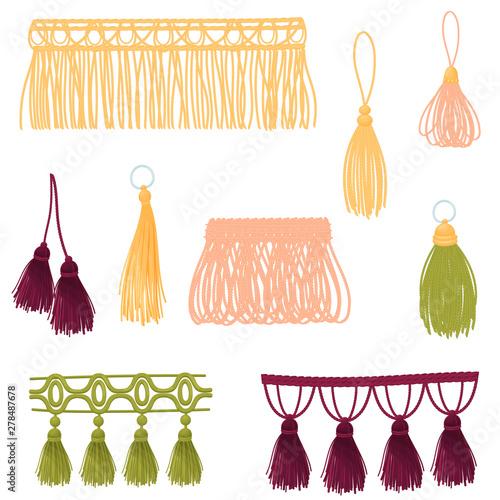 Fotografie, Obraz  Set of decorative tassels