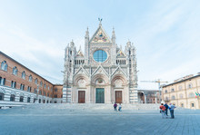 Church Cattedrale Di Siena In Historical City Siena, Tuscany, Italy