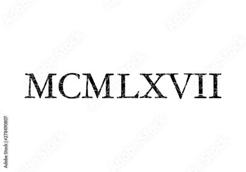 Fotografia  MCMLXVII 1967 Roman (Ancient Black)