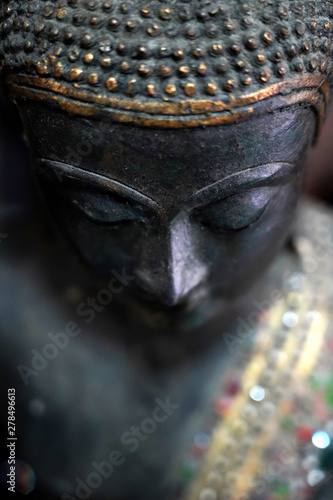 Fotografie, Obraz  The face of Buddha