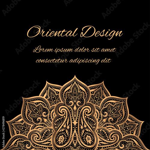 Luxury Background Vector Islamic Paisley Mandala Royal