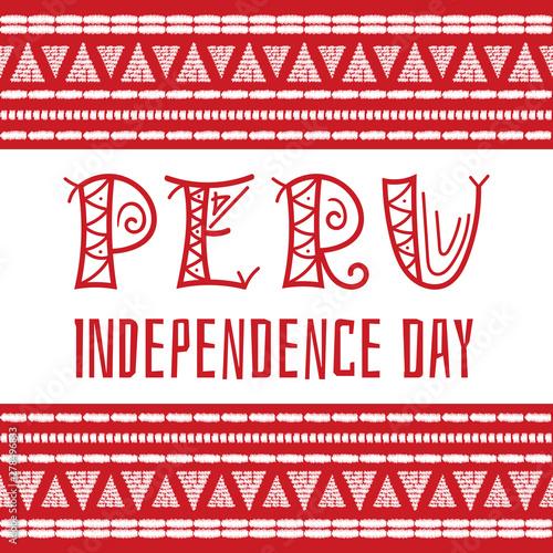Fotografia  Peru Independence day (Fiestas Patrias), 28 July, illustration vector