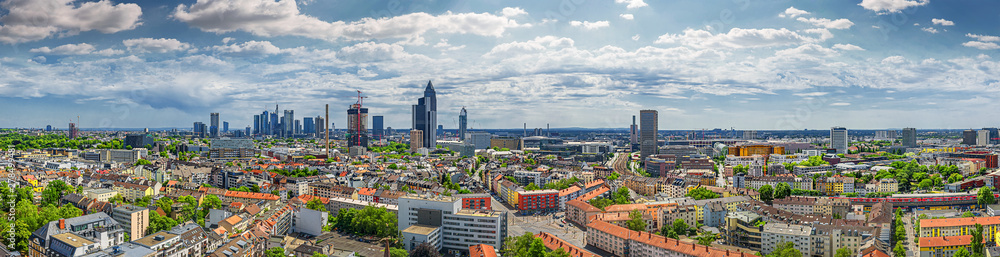 Fototapety, obrazy: frankfurt city seen from north