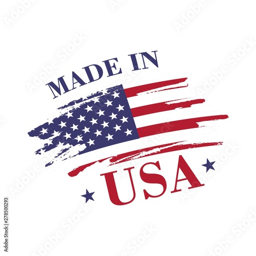 Photographie  Made in USA (United States of America) label