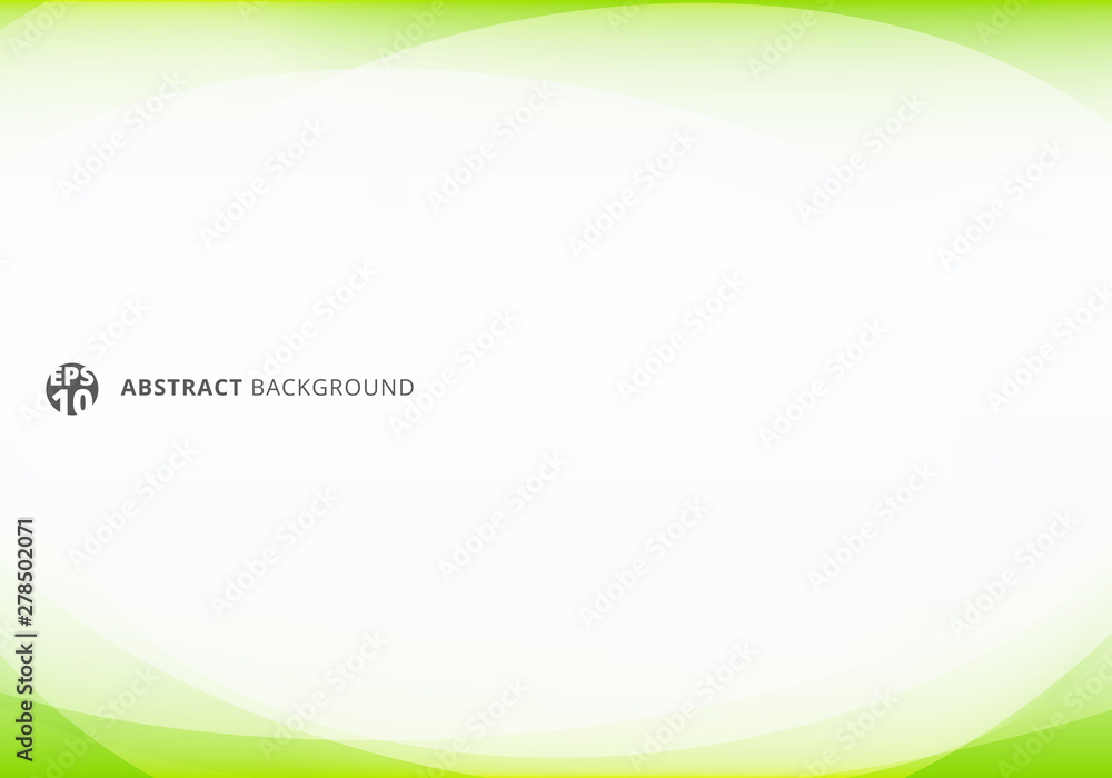 Fototapeta Abstract template elegant header and footers green lime curve light template on white background with copy space.