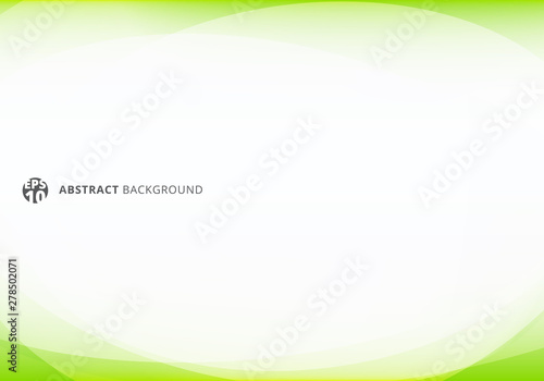 Obraz Abstract template elegant header and footers green lime curve light template on white background with copy space. - fototapety do salonu