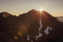 Sunrise Over The Fagaras Mountains, Romania. View From Vanatoare Lui Buteanu Peak 2507 M,outdoors