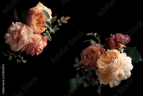Carta da parati Beautiful bunch of colorful roses flowers