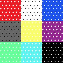 Set Polka Dot Seamless Pattern...